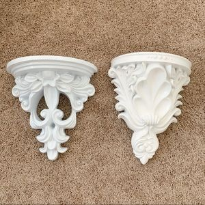 Wall decor shelves baroque ornate shelving